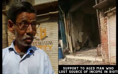 Support to aged man who lost source of income in riots