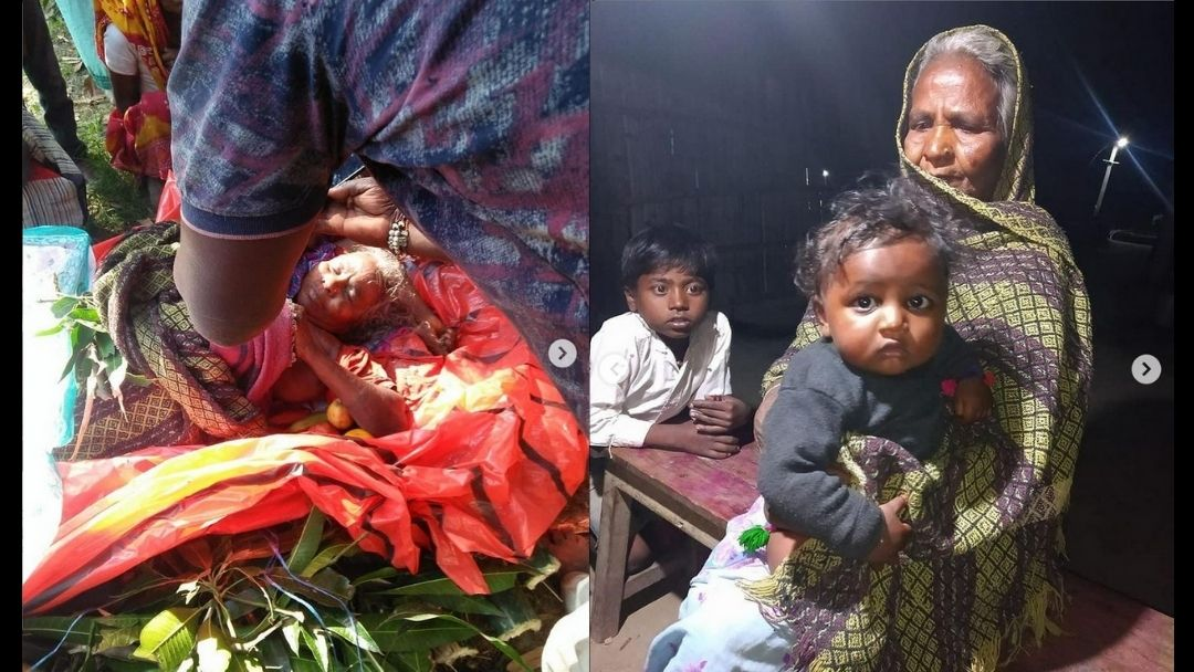 Support to poor marginalized family of deceased from Madhubani, Bihar