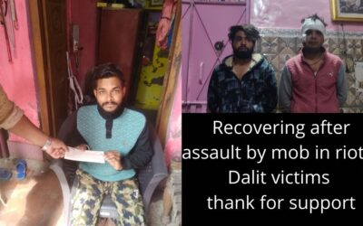 Recovering after assault by mob, they thank for support